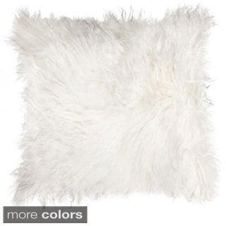 Mongolian White Sheepskin Pillow