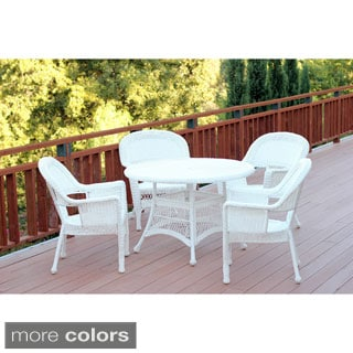5-piece Resin Wicker Dining Set