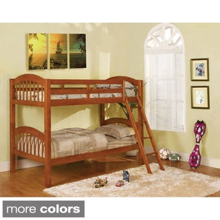Olbia Picket French Style Twin Over Twin Bunk Bed
