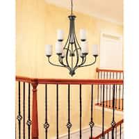 Avery Home Lighting Cardinal Olde Bronze 9-light Chandelier