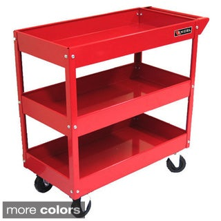 Excel 29-inch 3-tray Rolling Metal Tool Cart