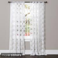 Lush Decor Arlene Sheer Curtain Panel