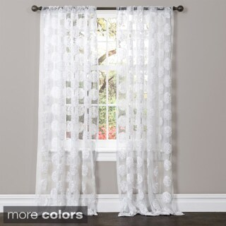 Lush Decor Arlene Sheer Curtain Panel