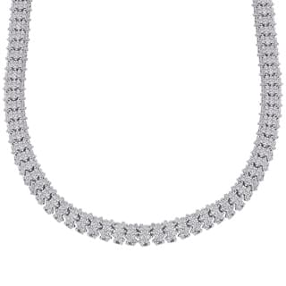 Finesque Silverplated 1/4ct TDW Diamond Necklace with Red Bow Gift Box https://ak1.ostkcdn.com/images/products/P16446769L.jpg?impolicy=medium