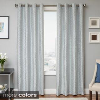 Softline Payton Wave Woven Grommet Top Curtain Panel