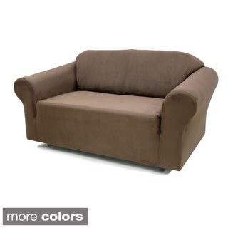 Stretch Suede Sofa Slipcover