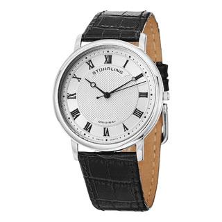 Stuhrling Original Men's Swiss Quartz Classique 45 Leather Strap Watch