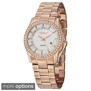 Stuhrling Original Women's Quartz Calliope Stainless Steel Bracelet Watch