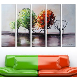 Blossoming Affection' 5-piece Landscape Oil Painting