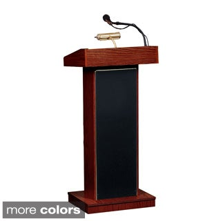 Orator Floor Lectern with Wireless Tie Clip Mic