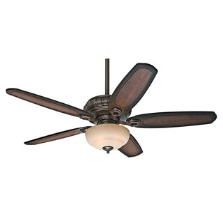 Hunter Prestige Kingbridge Roman Sienna 54-inch Hunter Fan with 5 Burnished Cherry Carved Wood Blades