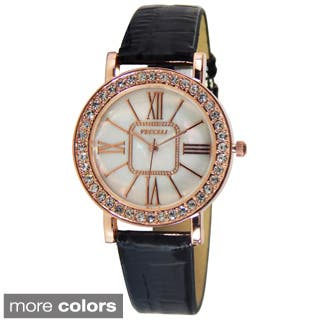 Vecceli Women's L-548 Fashion Leather Band Watch|https://ak1.ostkcdn.com/images/products/P16470179A.jpg?impolicy=medium