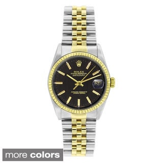 Pre-owned Rolex Men's Datejust Two-tone Stainless Steel Watch
