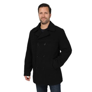 Men's Wool Look Double-breasted Peacoat