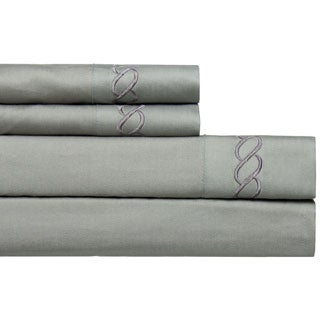 cable embroidered 800 thread count easycare 4piece deep pocket sheet set
