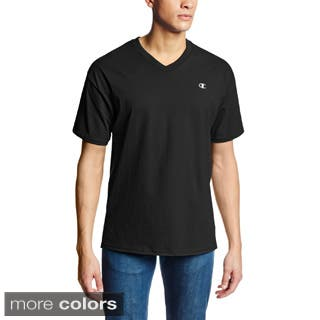 Champion Men's Authentic Jersey V-neck T-shirt|https://ak1.ostkcdn.com/images/products/P16474578L.jpg?impolicy=medium