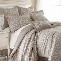 Amraupur Overseas Kate Taupe Floral 8-piece Comforter Set