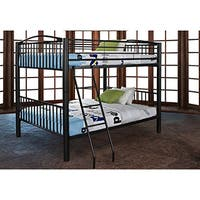 Powell Onyx Heavy Metal Full over Full Bunk Bed