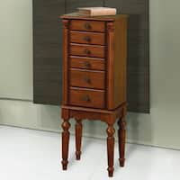 Powell Ashbury Cherry Finish Jewelry Armoire