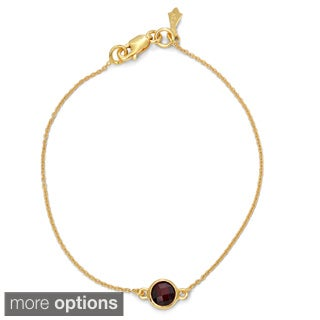 Gioelli Goldplated Sterling Silver Checkerboard Gemstone Bracelet