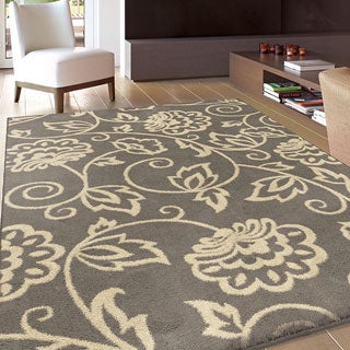 Carolina Weavers Eden Collection Andy Grey Area Rug (5'3 x 7'6)
