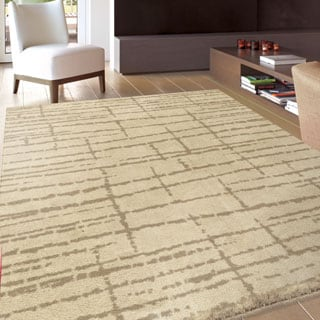 Carolina Weavers Sherwood Collection Logan Beige Area Rug (7'10 x 10'10) - 7'10 x 10'10