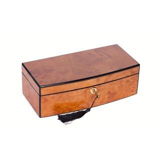 Italian Blonde Burlwood Jewelry Box