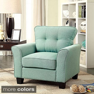 Furniture of America Primavera Modern Linen Chair