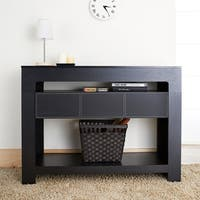 Furniture of America Arroya Modern Black Console Table