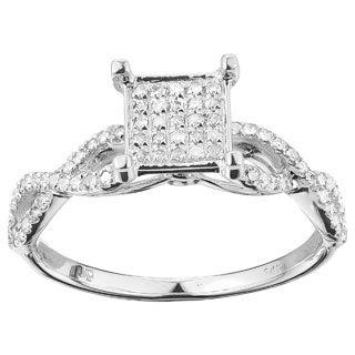 14k White Gold 1/2ct TDW Elegant Diamond Ring