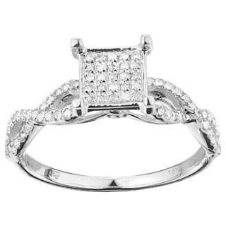 14k White Gold 1/2ct TDW Elegant Diamond Ring (3 options available)
