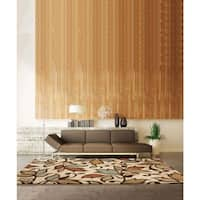 Carolina Weavers Grand Comfort Collection Color Domain Beige Shag Area Rug (5'3 x 7'6) - 5'3 x 7'6