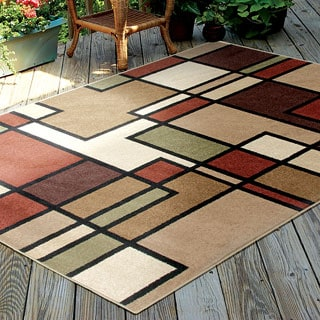 Indoor/ Outdoor Napa Graham Multi Rug (5'2 x 7'6)