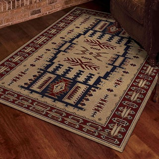 Carolina Weavers Nativity Collection Denizen Ivory Area Rug (7'10 x 10'10)
