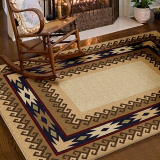 Carolina Weavers Nativity Collection Explorer Beige Area Rug (5'3 x 7'6)