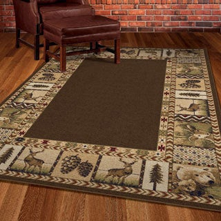 Carolina Weavers Nativity Collection Georgic Brown Area Rug (7'10 x 10'10)