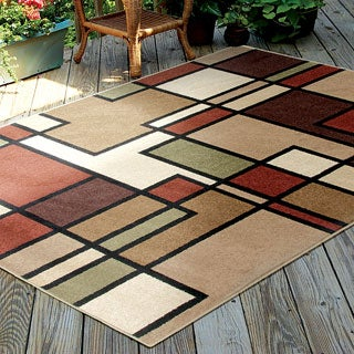 Indoor/ Outdoor Napa Graham Multi Rug (7'8 x 10'10)