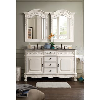 James Martin Furniture Classico White/ Granite Double Vanity Set