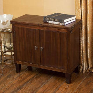 Luna Acacia Wood 2-door Chest by Christopher Knight Home