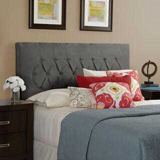 Humble + Haute Halifax Velvet Grey Diamond Tufted Upholstered Headboard