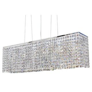 Modern Chrome 40-inch Crystal Chandelier