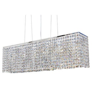 Modern Chrome 40-inch Crystal Chandelier