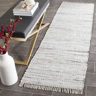Safavieh Hand-woven Rag Rug White Cotton Rug (2'3 x 6')