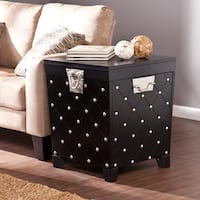 Clay Alder Home Hi-Line Black and Satin Silver Side/ End Table Trunk