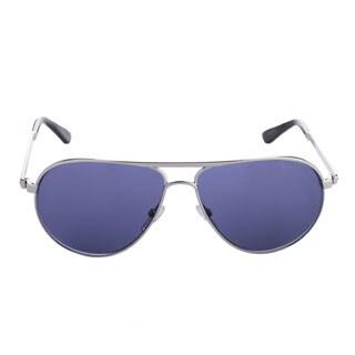 Tom Ford Marko TF144 18V Unisex Silver Frame Blue Lens Aviator Sunglasses