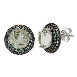 Gioelli Sterling Quartz Designer Earrings