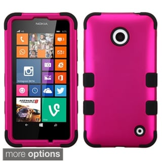 INSTEN Shockproof 3-piece PC Soft Silicone Hybrid Phone Case Cover for Nokia Lumia 630, Lumia 635