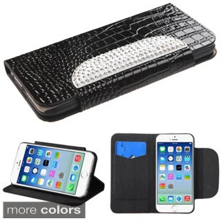 INSTEN Crocodile Skin Stand Card Wallet Leather Phone Case Cover for Apple iPhone 6 4.7-inch