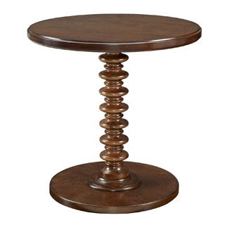 Powell Seaside Hazelnut Round Spindle Table