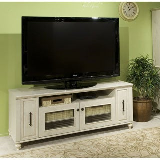 kathy ireland Office by Volcano Dusk TV Stand with Pull-out Media Storage